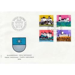 1976 - Switzerland  Sc# B439/B442  F.D.C.  Nice. Pro Patria 76 (Scott)