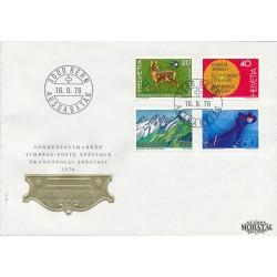 1976 - Switzerland  Sc# 616/619  F.D.C.  Nice. Years Events (Scott)