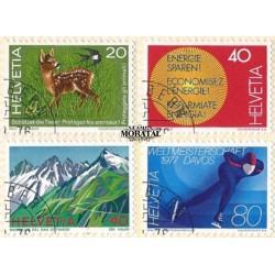 1976 - Switzerland  Sc# 616/619  © Used, Nice. Years Events (Scott)