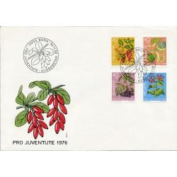 1976 - Switzerland  Sc# B443/B446  F.D.C.  Nice. Pro Juventute 76 (Scott)