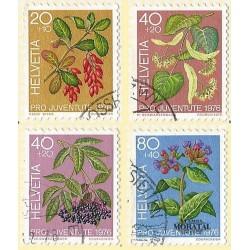 1976 - Switzerland  Sc# B443/B446  © Used, Nice. Pro Juventute 76 (Scott)
