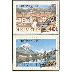1977 - Switzerland  Sc# 627/628  © Used, Nice. Europa 77 (Scott)