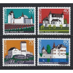 1977 - Switzerland  Sc# B447/B450  ** MNH Very Nice. Pro Patria 77 (Scott)