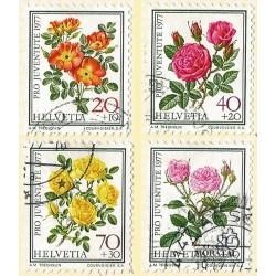 1977 - Switzerland  Sc# B451/B454  © Used, Nice. Pro Juventute 77 (Scott)