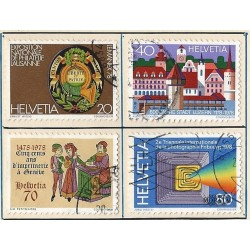 1978 - Switzerland  Sc# 652/655  © Used, Nice. Years Events (Scott)