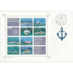 1978 - Switzerland  Sc# 656a/656h  F.D.C.  Nice. LEMANEX 78 Philatelic Exhibition (Scott)