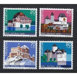 1978 - Switzerland  Sc# B455/B458  ** MNH Very Nice. Pro Patria 78 (Scott)