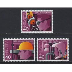 1978 - Switzerland  Sc# 659/661  ** MNH Very Nice. Industrial Safety (Scott)