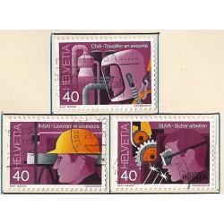 1978 - Switzerland  Sc# 659/661  © Used, Nice. Industrial Safety (Scott)