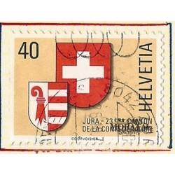 1978 - Switzerland  Sc# 666  © Used, Nice. Admission of Jura as 23rd Canton (Scott)