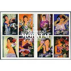 2003 Espagne 0 Conduite de la femme et les fleurs (adhésif)  **MNH TTB Très Beau  (Yvert&Tellier)