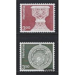 1979 - Switzerland  Sc# 578/579  ** MNH Very Nice. Landscapes and Architecture (Scott)