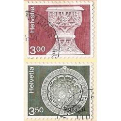 1979 - Switzerland  Sc# 578/579  © Used, Nice. Landscapes and Architecture (Scott)