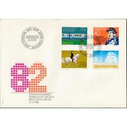 1982 - Switzerland  Sc# 729/732  F.D.C.  Nice. Years Events (Scott)
