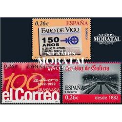 2003 Espagne 3605/3604  Peirodicos (Vigo, Galice, Andalousie)  **MNH TTB Très Beau  (Yvert&Tellier)