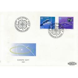 1991 - Switzerland  Sc# 891/891  F.D.C.  Nice. Europa 91 (Scott)