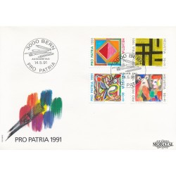 1991 - Switzerland  Sc# B568/B571  F.D.C.  Nice. Pro Patria 91 (Scott)