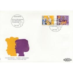 1992 - Switzerland  Sc# 843, 845  F.D.C.  Nice. Industry (Scott)