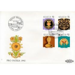 1992 - Switzerland  Sc# B576/B579  F.D.C.  Nice. Pro Patria 92 (Scott)