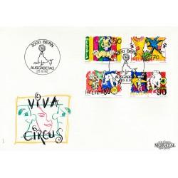 1992 - Switzerland  Sc# 920/923  F.D.C.  Nice. World of the Circus (Scott)