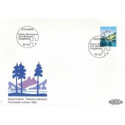 1993 - Switzerland  Sc# 905  F.D.C.  Nice. Mountain Lakes (Scott)