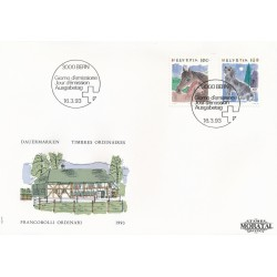 1993 - Switzerland  Sc# 874, 876  F.D.C.  Nice. Animals (Scott)