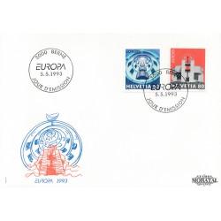 1993 - Switzerland  Sc# 932/933  F.D.C.  Nice. Europa 93 (Scott)