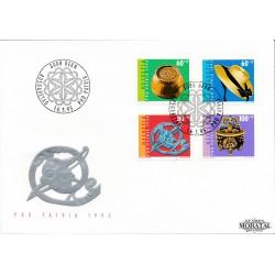 1995 - Switzerland  Sc# B603/B606  F.D.C.  Nice. Pro Patria 95 (Scott)