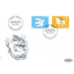 1995 - Switzerland  Sc# 958/959  F.D.C.  Nice. Europa 95 (Scott)