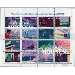 2004 Espagne 3635/3638  Feuille MP. Correspondance épistolaire (VI) (Comics)  **MNH TTB Très Beau  (Yvert&Tellier)