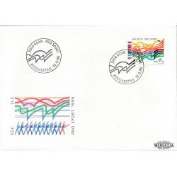 1996 - Switzerland  Sc# B612  F.D.C.  Nice. Pro Sport 96 (Scott)
