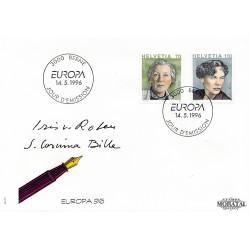 1996 - Switzerland  Sc# 970/971  F.D.C.  Nice. Europa 96 (Scott)