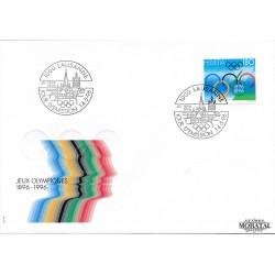 1996 - Switzerland  Sc# 972  F.D.C.  Nice. Olympic Games, Cent. (Scott)