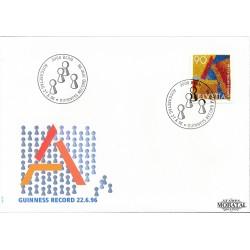 1996 - Switzerland  Sc# 973  F.D.C.  Nice. Guinness Record Stamp (Scott)
