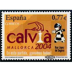 2004 Espagne 3640 Olympiade d'échecs  **MNH TTB Très Beau  (Yvert&Tellier)