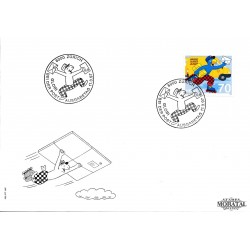 1997 - Switzerland  Sc# 986  F.D.C.  Nice. Globi a Postman (Scott)