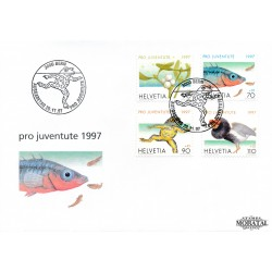 1997 - Switzerland  Sc# B625/B628  F.D.C.  Nice. Pro Juventute 97 (Scott)
