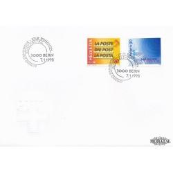 1998 - Switzerland  Sc# 1010/1011  F.D.C.  Nice. Post Swisscom (Scott)