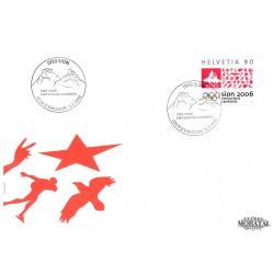 1998 - Switzerland  Sc# 1025  F.D.C.  Nice. Sion, Candidate 2006 Winter Games (Scott)