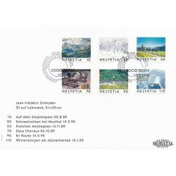 1998 - Switzerland  Sc# 1019/1024  F.D.C.  Nice. View of Switzeland (Scott)