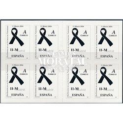 2004 Spanien 0 Opfer des Terrorismus. Carnet  ** Perfekter Zustand  (Michel)