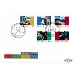 1998 - Switzerland  Sc# B629/B633  F.D.C.  Nice. Pro Patria 98 (Scott)