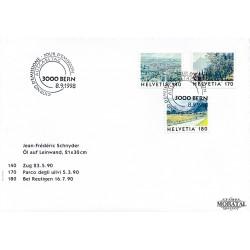 1998 - Switzerland  Sc# 1027/1029  F.D.C.  Nice. View of Switzeland (Scott)
