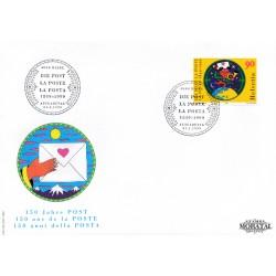 1999 - Switzerland  Sc# 1040  F.D.C.  Nice. Switzeland Post 150th (Scott)
