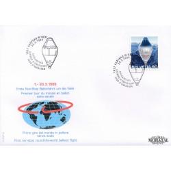 1999 - Switzerland  Sc# 1047B  F.D.C.  Nice. Firts Non-stop Balloon Flight Around World (Scott)