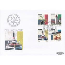 1999 - Switzerland  Sc# B638/B641  F.D.C.  Nice. Pro Patria 99 (Scott)