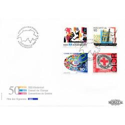 1999 - Switzerland  Sc# 1050/1052, 1054  F.D.C.  Nice. Anniversaries and Events (Scott)