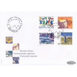 1999 - Switzerland  Sc# 1058/1061  F.D.C.  Nice. Anniversaries and Events (Scott)