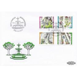 2000 - Switzerland  Sc# B647/B650  F.D.C.  Nice. Pro Patria 00 (Scott)