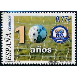 2004 Espagne 3658 Centenaire de la FIFA  **MNH TTB Très Beau  (Yvert&Tellier)